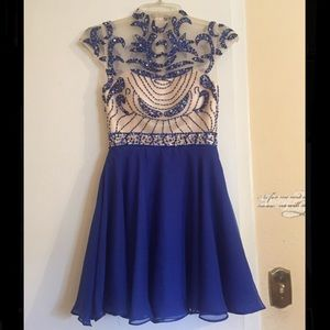 A blue homecoming/prom/formal dress!
